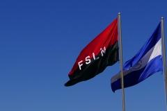 3. ...na którym, jak w każdym nikaraguańskim mieście, obok flagi państwowej powiewa bandera rządzącej partii FSLN