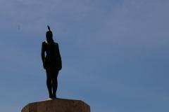 Pomnik Cataliny, która była chyba pierwowzorem Pocahontas