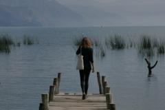 Jedno z licznych mol nad jeziorem Atitlan