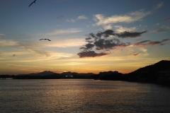Zachód słońca nad Zatoką Panamską