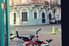 Widok z rowerowego baru w Casco, gdzie właściel na wieść, że to nasz pierwszy dzień w Panamie, zaprosił nas na darmowe piwko. Dobry początek, huh